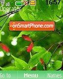 Green Leaves 02 es el tema de pantalla