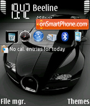 Black veyron 01 theme screenshot