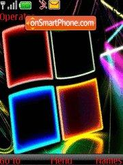 Neon Windows theme screenshot