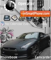 Nissan Gtr black es el tema de pantalla