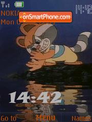 Swf racoon animated es el tema de pantalla