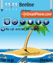 Standin on a beach pills es el tema de pantalla