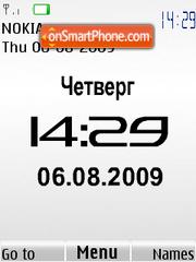 Swf white Nokia clock es el tema de pantalla