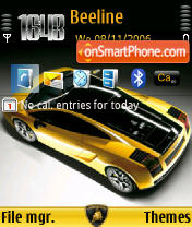 Lamborghini Gallardo SE theme screenshot