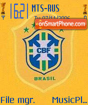 Brazil CBF Modified theme screenshot