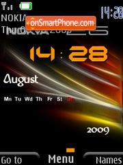 Nokia Clock SWF theme screenshot