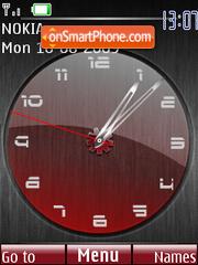 Deep Red Clock theme screenshot