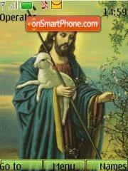 Jesus With Sheep theme screenshot