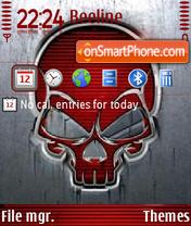 Red Skull 01 theme screenshot