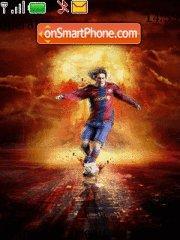 Messi Barsa theme screenshot