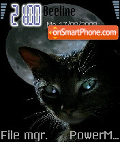 Cat Black theme screenshot