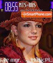 Britney Spears 10 es el tema de pantalla