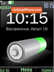 SWF battery $ rus date clock theme screenshot