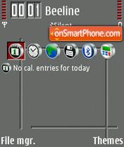Red Gray Bold theme screenshot