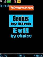 Genius By Birth theme screenshot