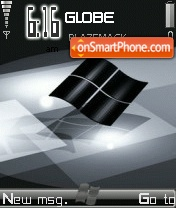 Black Windows theme screenshot