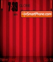 5800 Stripes Red theme screenshot