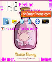 Bottle Bunny theme screenshot