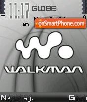 Walkman Grey 01 theme screenshot