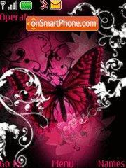 Pink-butterfly theme screenshot