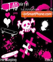 Emo abstract theme screenshot