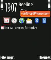 N97 Dark Red theme screenshot