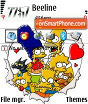 The Simpsons es el tema de pantalla