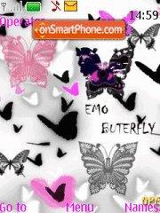 Emo butterfly theme screenshot