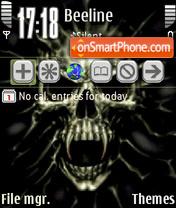 Animated Skull 04 theme screenshot