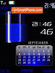Clock Calender theme screenshot