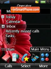 Red Blossom theme screenshot
