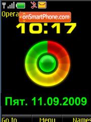 Clock $ coloured battery theme screenshot