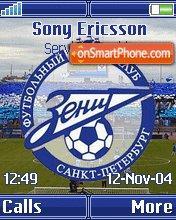 FC Zenit K750 theme screenshot