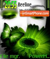 Green Butterfly 02 theme screenshot