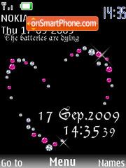Swf Clock Diamond theme screenshot