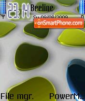 Blue N Green theme screenshot