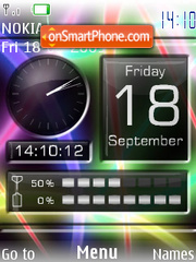 Swf colour clock theme screenshot