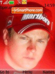Kimi Raikkonen 01 theme screenshot