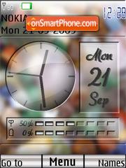 Swf clock stone theme screenshot