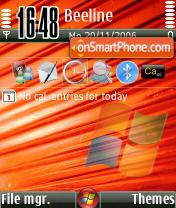 Vista Red es el tema de pantalla
