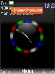 Swf colour clock es el tema de pantalla
