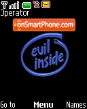 Evil Inside theme screenshot