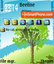 Tree 08 es el tema de pantalla