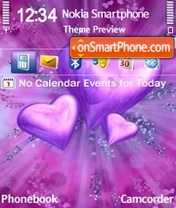 Violet hearts es el tema de pantalla