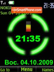 Clock $ colored battery anim theme screenshot