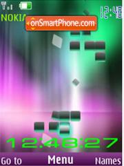 Clock flash animated theme screenshot