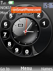 Swf phone clock es el tema de pantalla