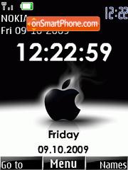 Apple Clock es el tema de pantalla
