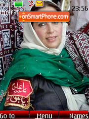 Benazir Bhutto Shaheed theme screenshot