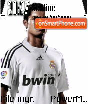 Ronaldo madrid theme screenshot